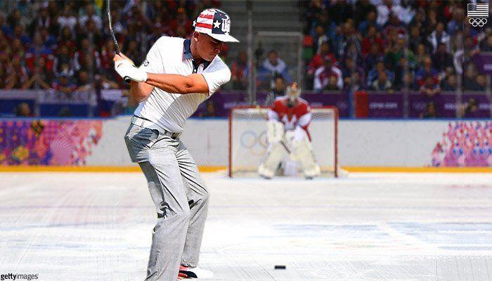 U.S. Olympic Team    Verified account     @TeamUSA    4h4 hours ago  .@RickieFowler takes the shoot-out for @usahockey !  #NationalOppositeDay  Rickie Fowler, USA GOLF and USA Hockey - (5) U.S. Olympic Team (@TeamUSA) | Twitter