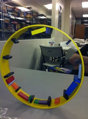 Giant Hamsterrolle wheel while playing the game