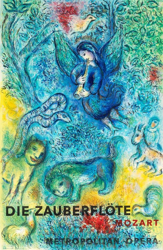 Die zauberflöte - poster by Marc Chagall for the Metropolitan Opera