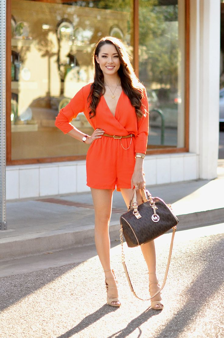 Hapa Time - a California fashion blog by Jessica: Orange Playsuit