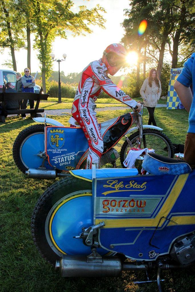 Stal Gorzów - piknik w Olandia  www.olandia.pl żużel, motocykl, zachód słońca