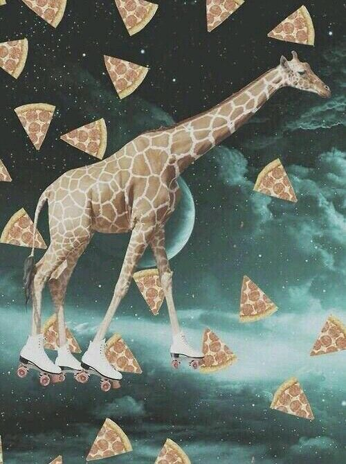 Weed Wallpaper Iphone X Pizza Space Giraffe On Roller Skates In 2019 Psychedelic
