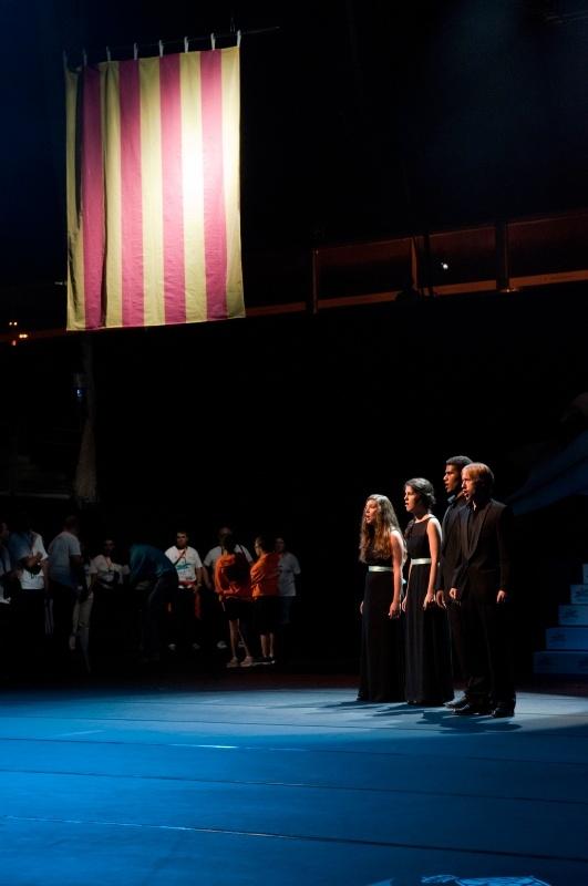 """Quartet Coral Nuances canta """"Els Segadors"""" a capel·la - inauguració Special Olympics"""