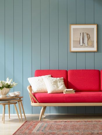 Stunning colour combination! Ercol furniture at John Lewis. Great for creating a living room focal point.