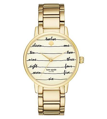 KATE SPADE Ksw1060 New York Gramercy Gold-Tone Stainless Steel Watch. #katespade #womens fashion watches