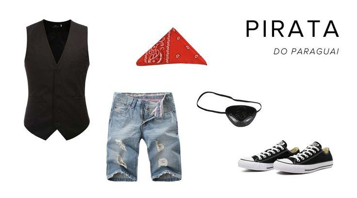 Esqueceu da fantasia? #pirata #fantasia #homem #masculina #homens #improviso #improvisada #basica #fácil #últimahora