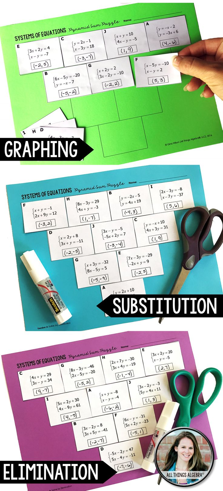 66 Best Systems Of Linear Equations Images On Pinterest