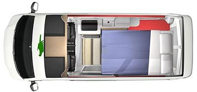 vw t5 camper layouts - Google Search