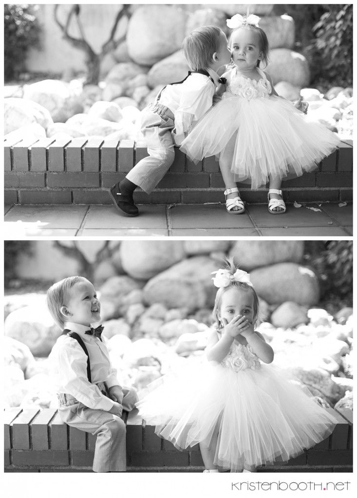 Best flower girl & ring bearer moment ever.