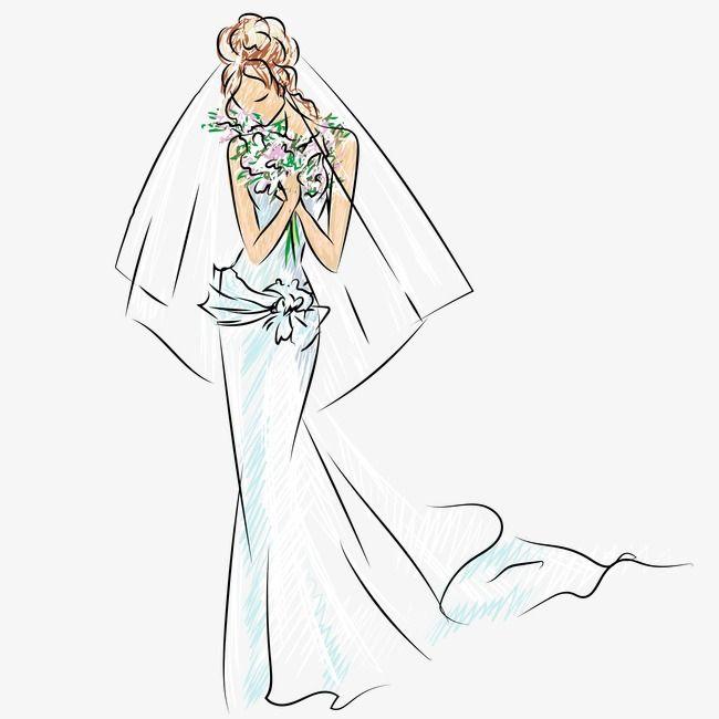 مرسومة باليد ناقلات العروس العروس العروس المرسومة باليد شخصية ناقلات Png وملف Psd للتحميل مجانا Art Tutorials Watercolor Bride Art Tutorials
