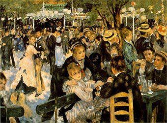 Le Moulin de la Galette (1876) Renoir.