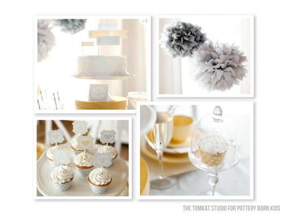 yellow + gray baby shower for @potterybarnkids!
