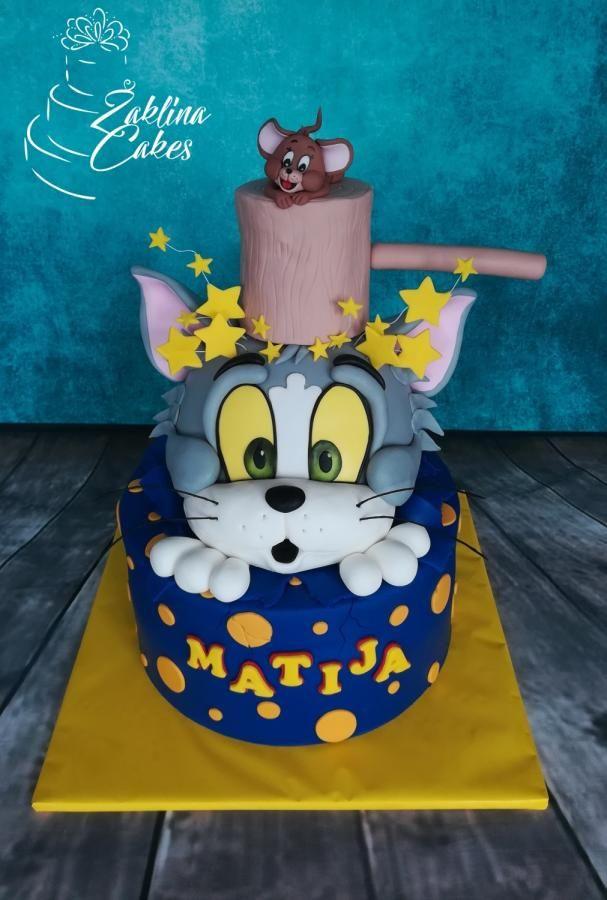 Tom And Jerry Cake By Zaklina Cartoon Cake Cartoon Birthday Cake