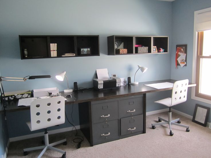 1000 Images About His Her Office On Pinterest Home Office Design Built In Desk And Offices