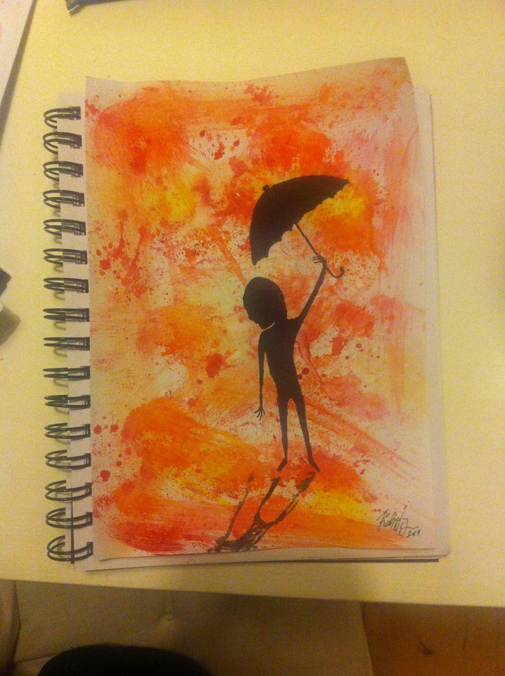 Shadow with umbrella