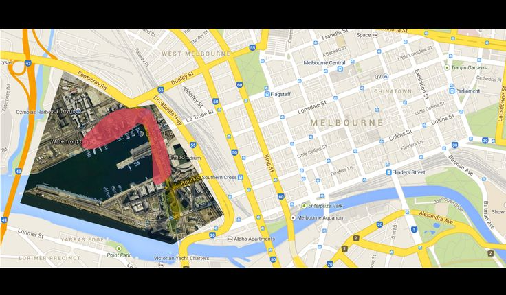 Proposed site location in the popularised and  adapting residential and commercial area of the Docklands precinct, Melbourne.
