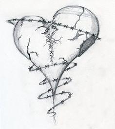 broken heart drawings - Google Search