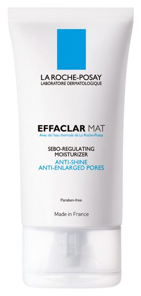 EFFACLAR MAT: Moisturizer. Anti Shine, Anti enlarged pores. Reduces pores and sebum flow.  Keeps skin matte.