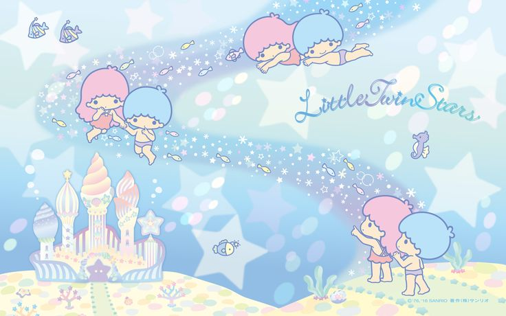 【Android iPhone PC】Little Twin Stars Wallpaper 201608 八月桌布 日本草莓新聞