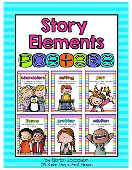 This pack has 6 neon story element posters to display in your classroom!  Story Elements include:*characters*setting*plot*theme*problem*solutionDownload the preview for a better look! :)