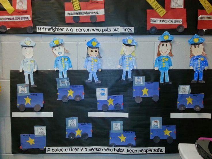 Classroom Ideas Organization ~ Police officer bulletin boards doors and classroom