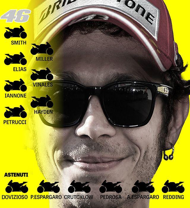 Rossi vs. Marquez... in pista. Così si schierano  #CADILO #IoStoConVale