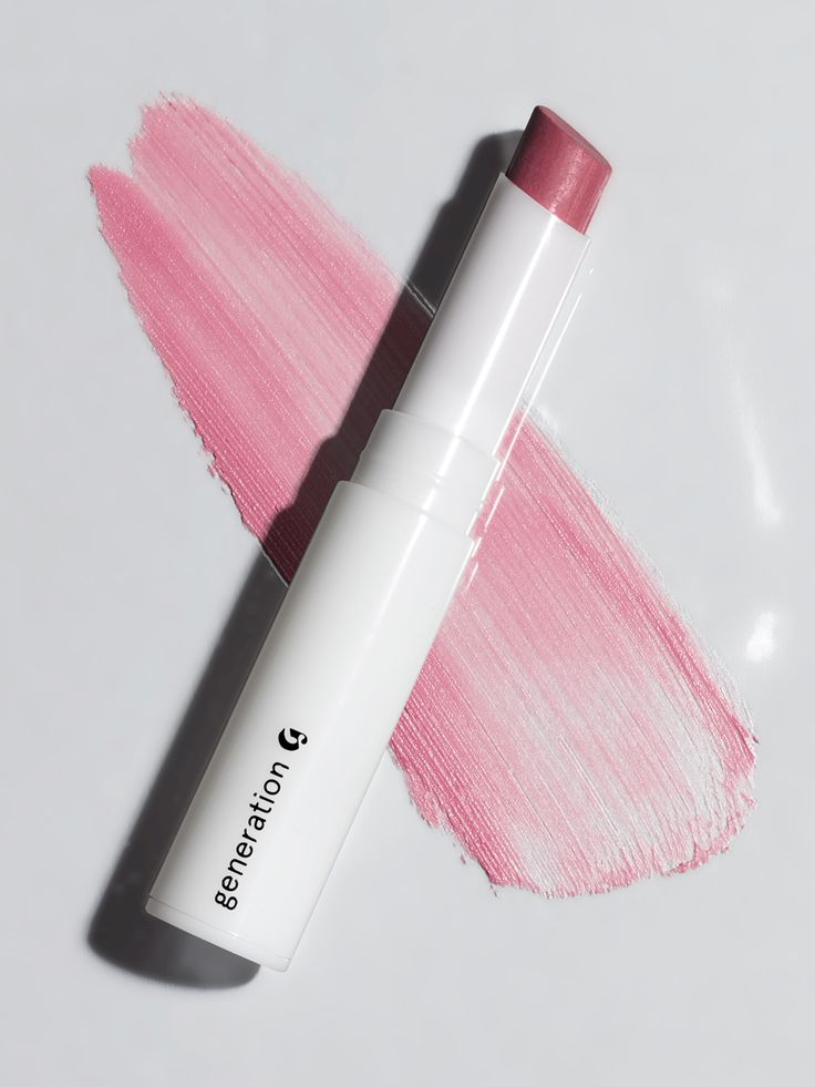 Glossier Generation G in Like. Swipe onto naked lips—once or twice for a subtle wash of color; three or four swipes for more intense color payoff.