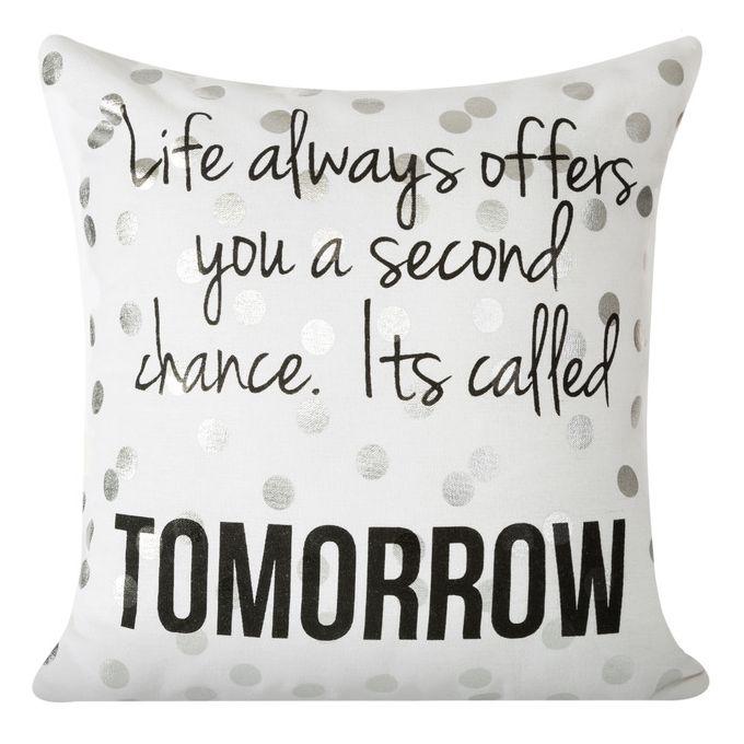 Nowoczesna poszewka na poduszkę w kolorze białym