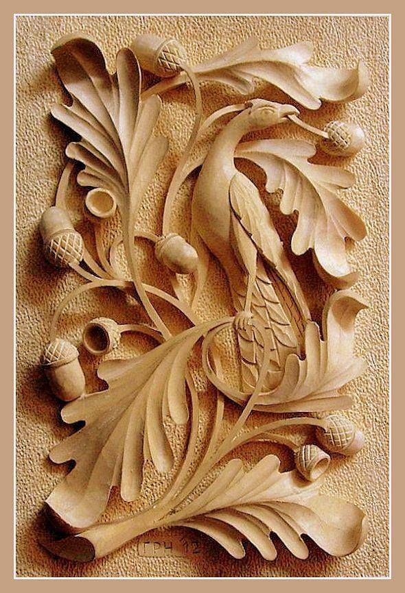Резьба по дереву картинки листья