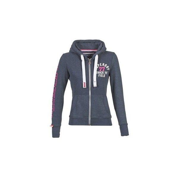 Superdry TRACK   FIELD ZIPHOOD Sweatshirt (265 BRL) ❤ liked on Polyvore featuring tops, hoodies, sweatshirts, blue, blue top, superdry, blue sweatshirt, superdry sweatshirt and superdry tops