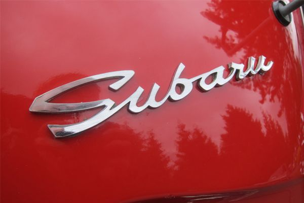 Vintage Subaru logo in Chrome.  Fantastic typography!