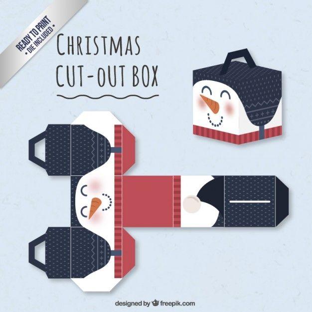 Caja de muñeco de nieve                                                                                                                                                     Más