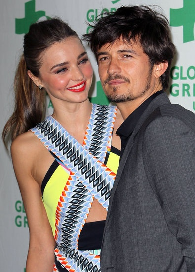 Miranda Kerr and Orlando Bloom walked the red carpet together at a Green Pre-Oscars bash