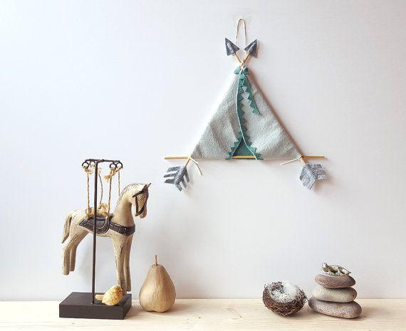 Hey, I found this really awesome Etsy listing at https://www.etsy.com/uk/listing/287851817/felt-teepee-wall-art-tribal-nursery