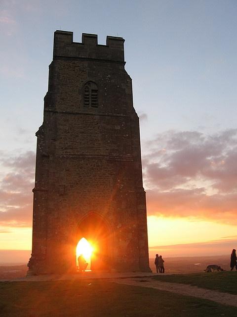 Glastonbury Tor sunset by jackiesjottings, via Flickr