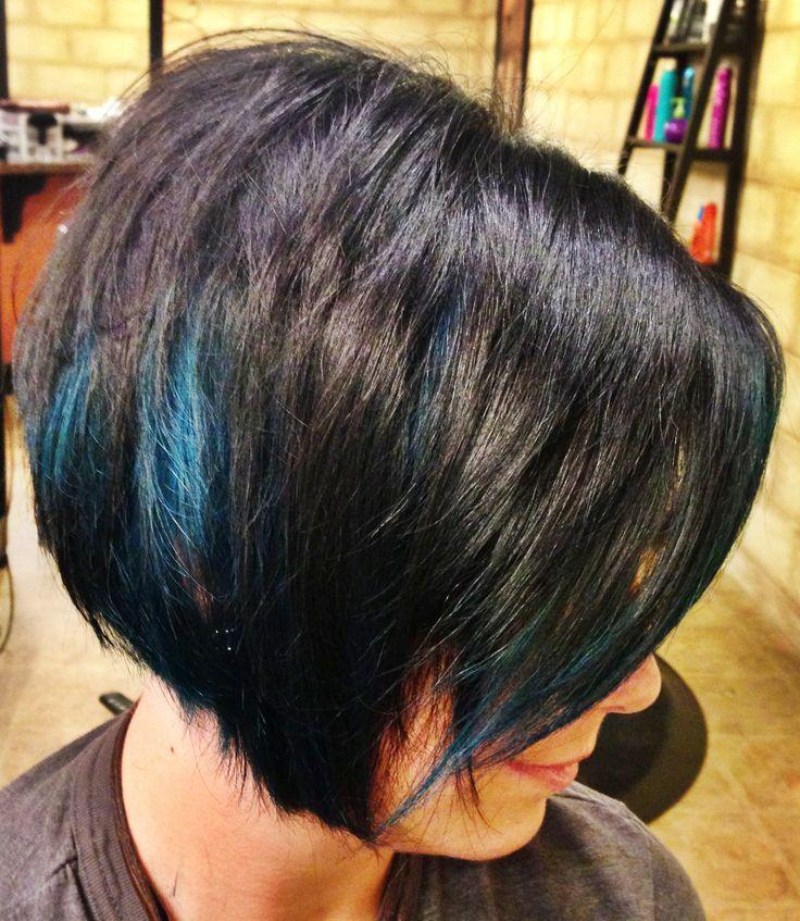 25 best hair colors images on pinterest balayage coloured hair blue peekaboo highlights on dark hair pmusecretfo Choice Image