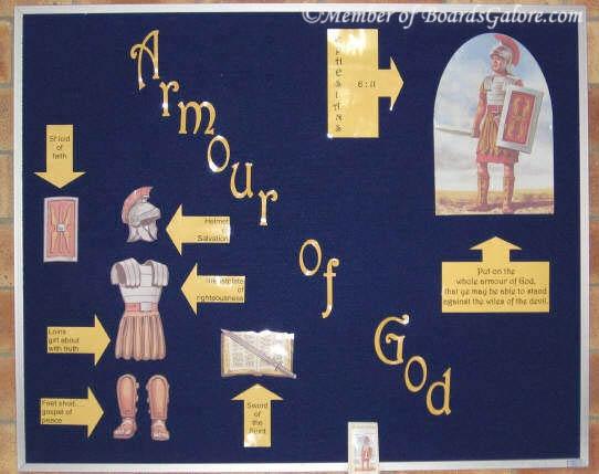 Armour of God | Bulletin Board Ideas | Church bulletin ...