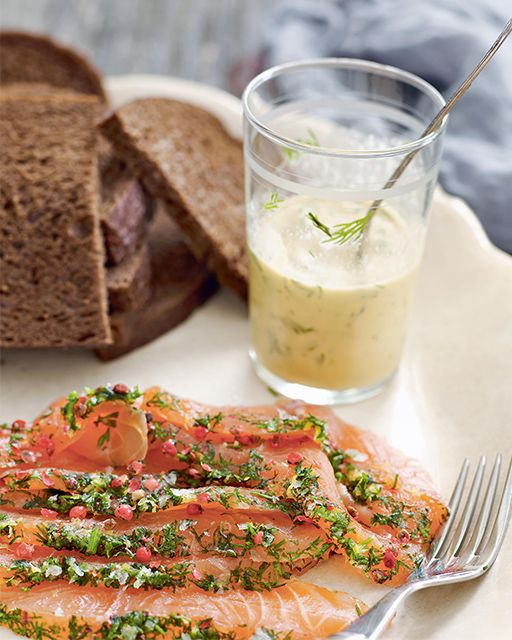 Mormor's Aquavit-Cured Salmon with Mustard Sauce: Great recipes and more at http://www.sweetpaulmag.com !! @Sweet Paul Magazine