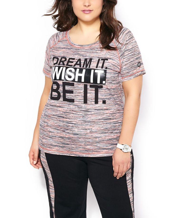 Activezone Plus Size Printed T Shirt Penningtons