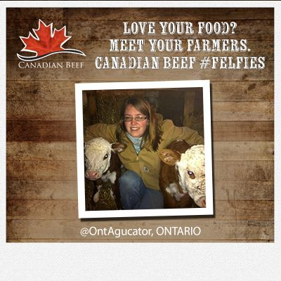 Love your food? Meet your #CanadianBeef #Farmers  #Felfie #Ontario cc @OntAgucator