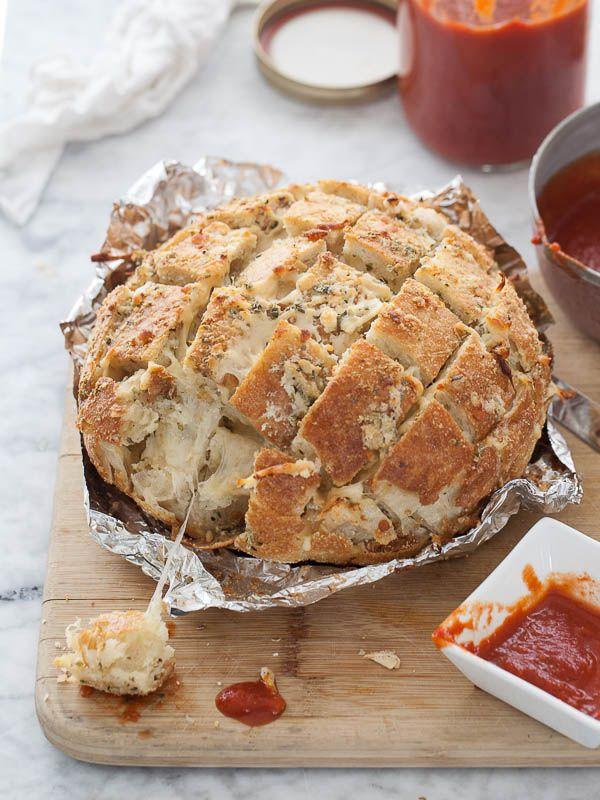 Smoked Mozzarella Pizza Bread | FoodieCrush.com