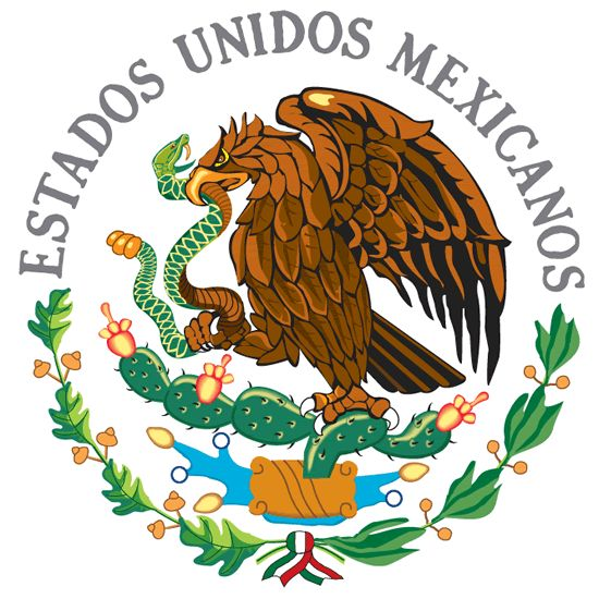 The emblem of the mexican flag my heritage art more for Mexican logos pictures
