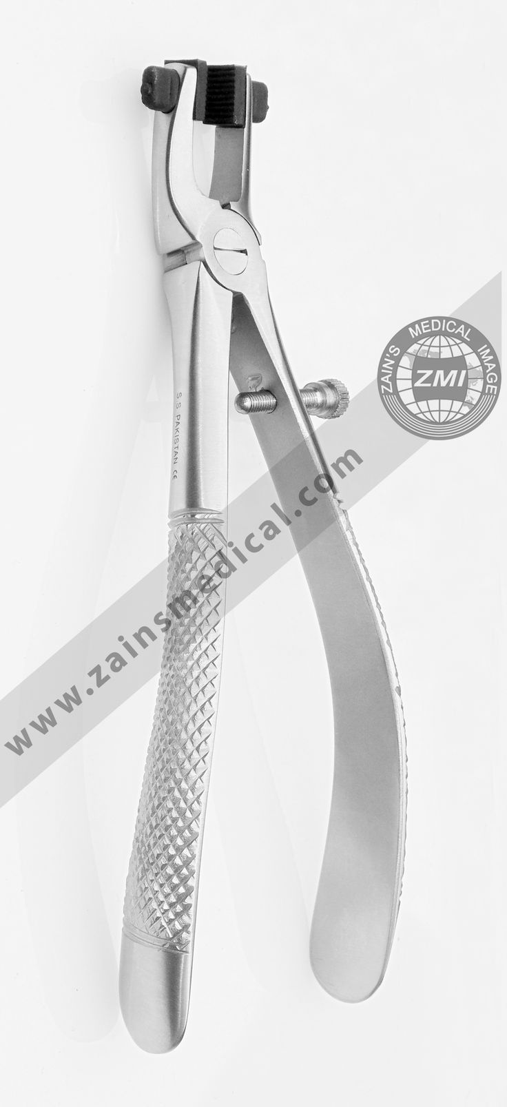 Crown removing pliers with rubber teeth this stainless