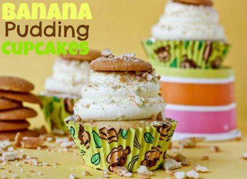 banana pudding cupcakes.Desserts, Recipe, Vanilla Cupcakes, Bananas Puddings Cupcakes, Food, Banana Pudding Cupcakes, Cookbooks Queens, Baking, Cupcakes Rosa-Choqu