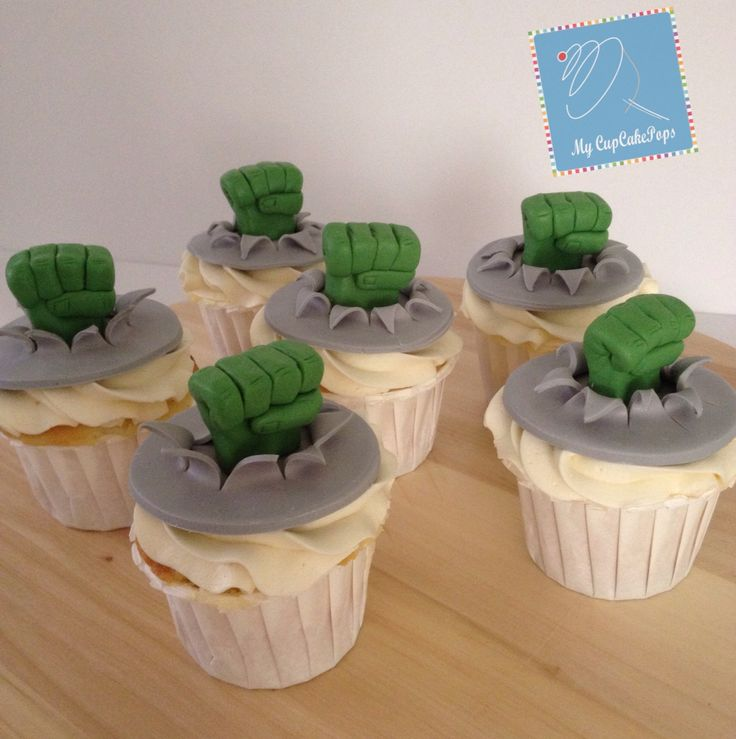The Incredible Hulk cupcakes