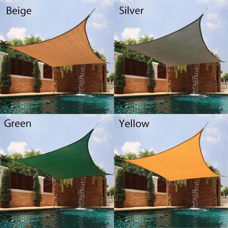 Large Square Sail Sun Shade - Free Shipping Today - Overstock.com - 12585257 - Mobile