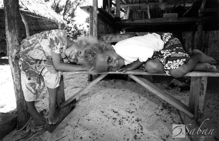 Local Children at Mystery Island, Vanuatu