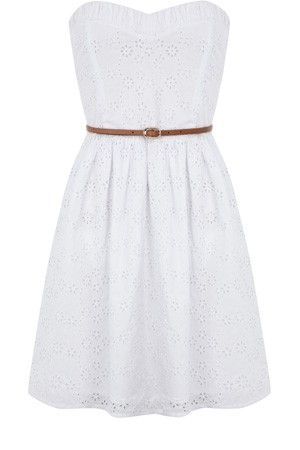 White lace dress... Pair it with cowgirl boots and you've got the perfect southern summer outfit