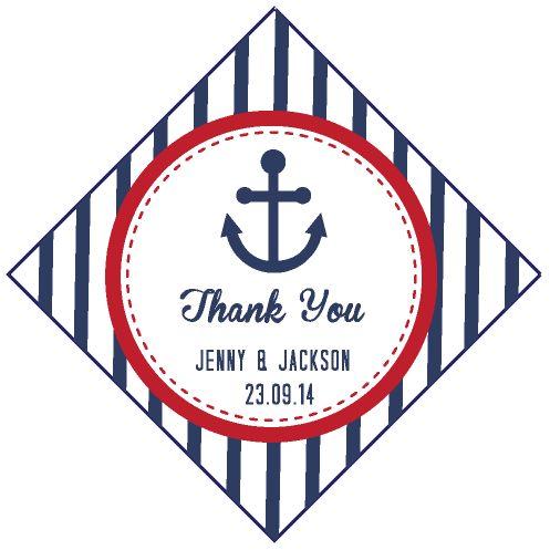 Nautical Diamond Wedding Personalized Tag / Sticker!!  #Weddingsticker  #Blueweddingtheme