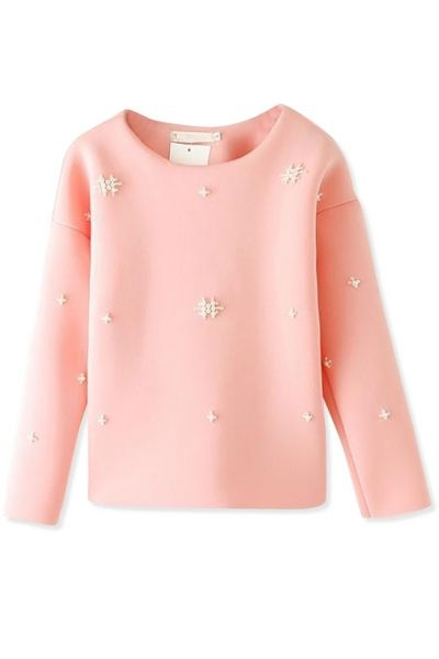 Fashion Beading Solid SweatshirtOASAP Giveaway, 10 pieces per day, till the end of 2014! Easiest way to get free clothing!